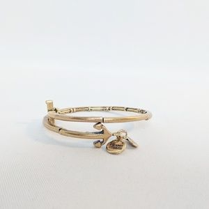 Alex and Ani Gold Cross Trident Wrap Bracelet